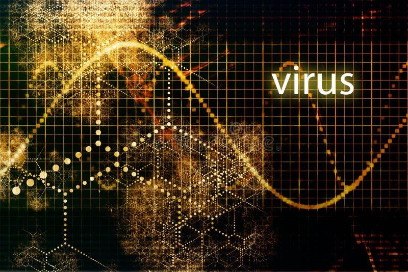 virus royaltyfri illustrationer