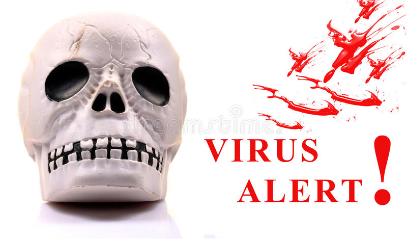 Download Virus alert stock illustration. Illustration of bones - 23372468