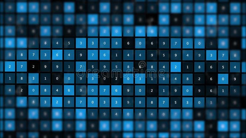 Virus angesteckte Schadsoftwarecomputerdaten bezüglich des Schirmes stock abbildung