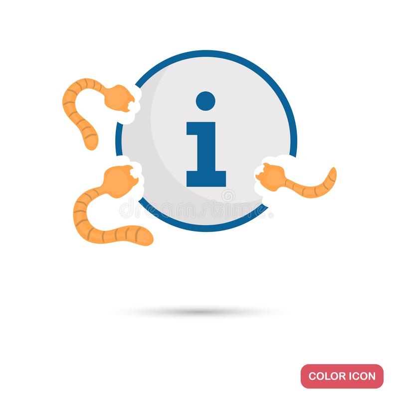 Virus attack the information color flat icon royalty free illustration