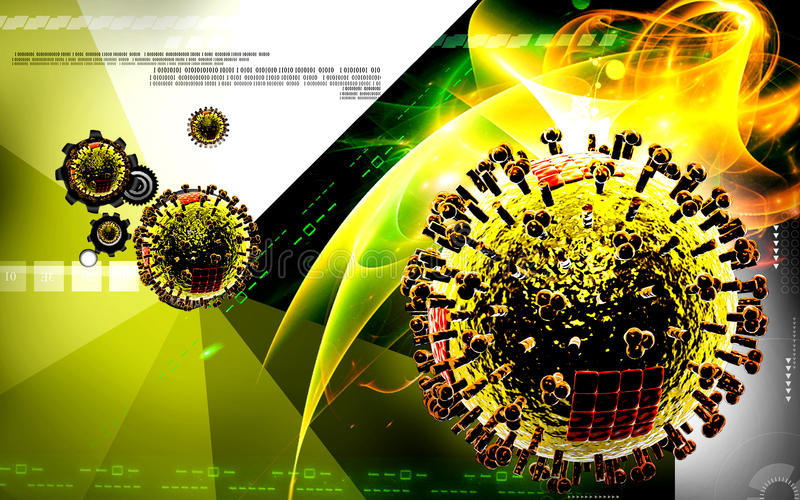 Virus avien illustration libre de droits