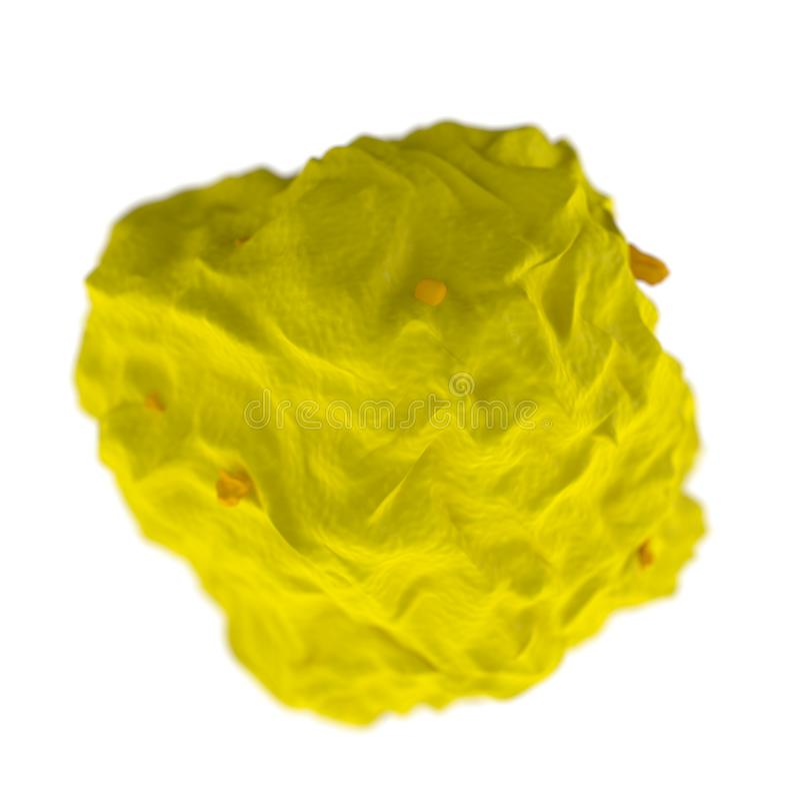 Virus, bacterias, aislante médico del concepto de la anatomía del microbio ilustración del vector