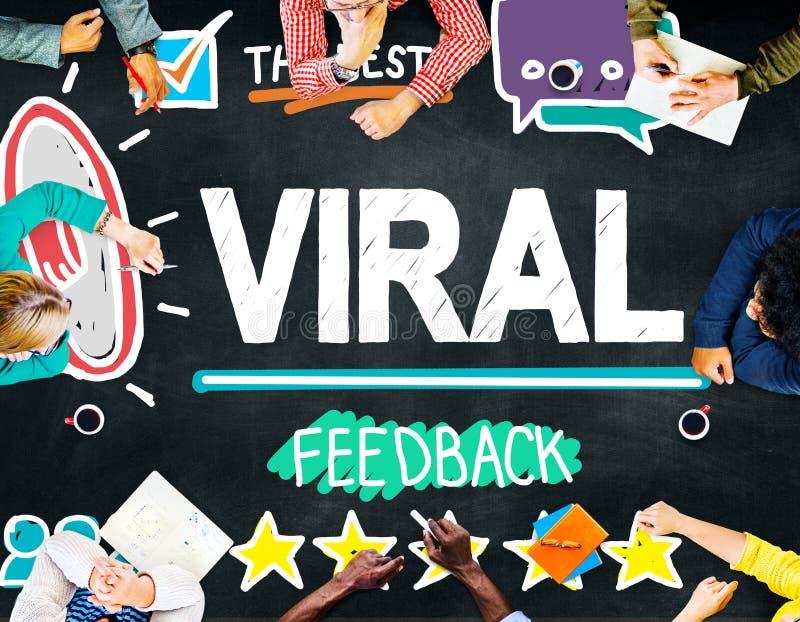 Virus- begrepp för återkoppling för händelse för granskning för marknadsföringsspridning arkivfoton