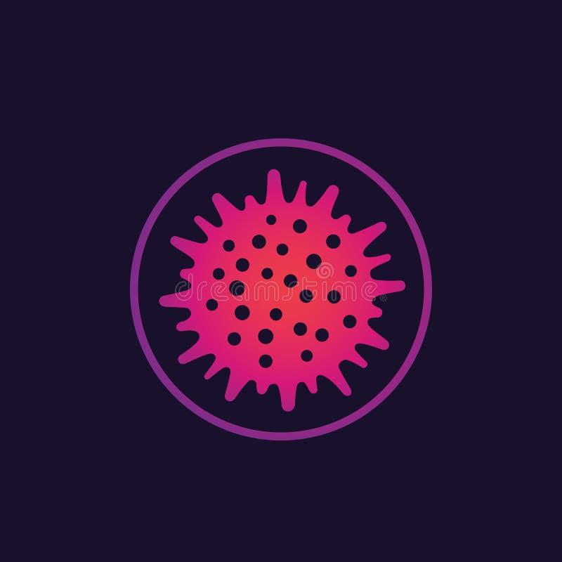 Virus, besmettelijk ziekteverwekkerpictogram royalty-vrije illustratie
