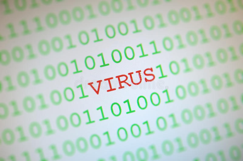 Virus In Binary Code Stock Images