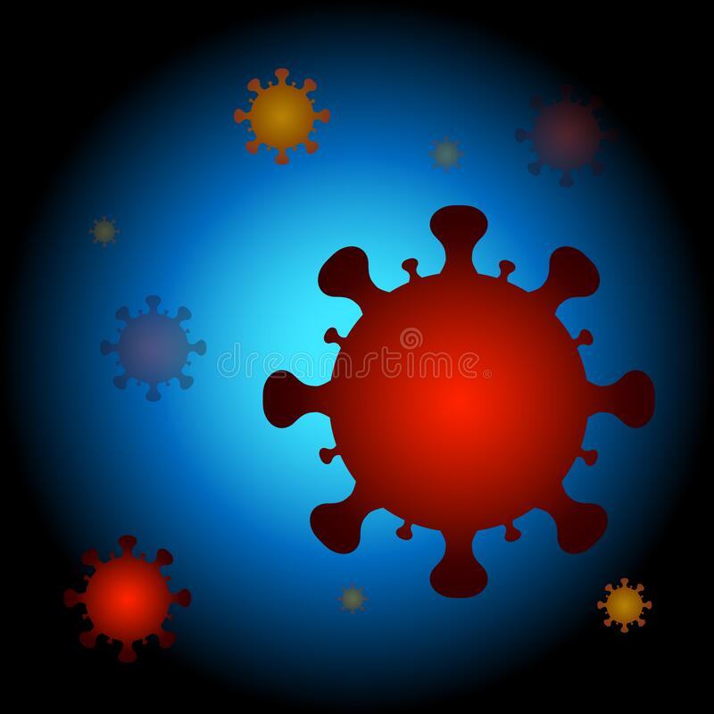 Virus cells background royalty free stock images