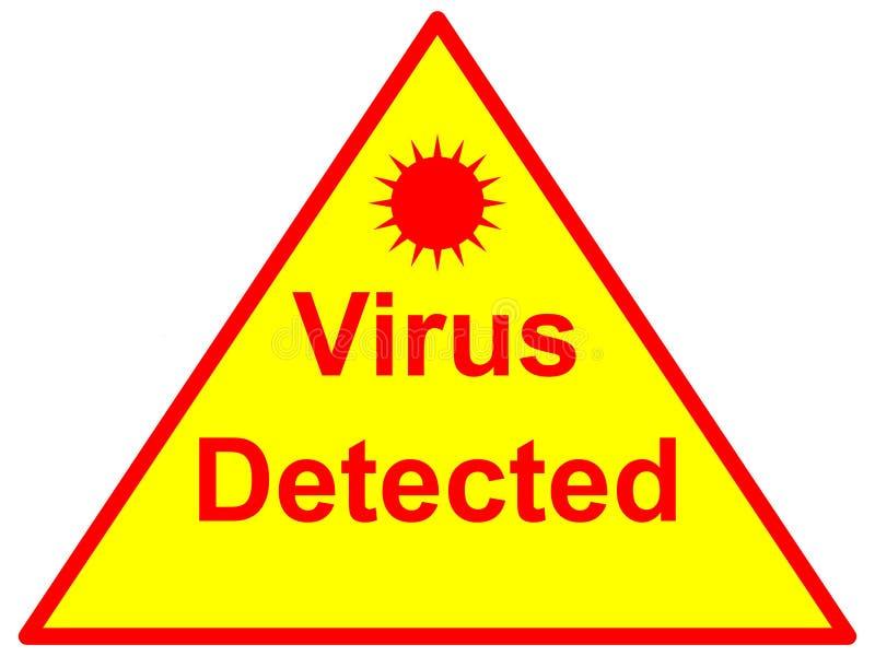 Virus détecté illustration libre de droits