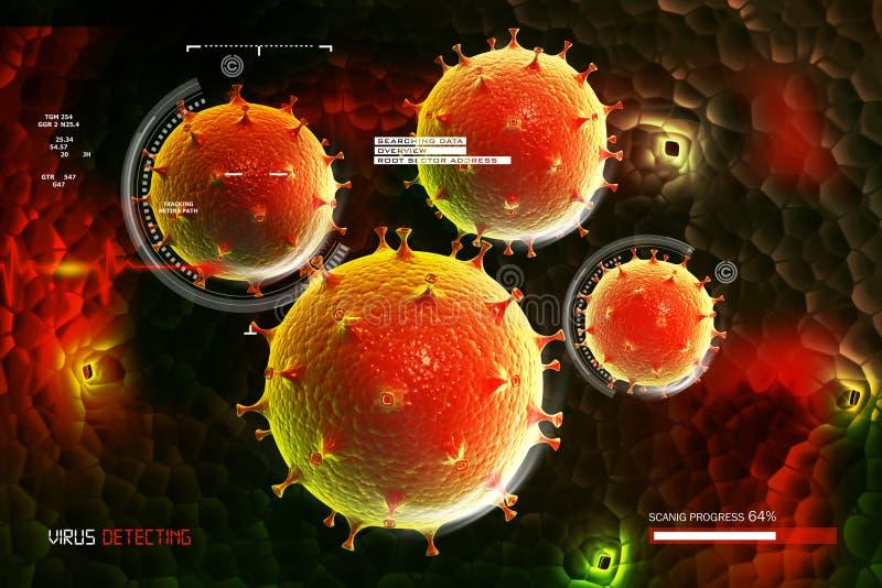 Virus 3d beeld royalty-vrije illustratie