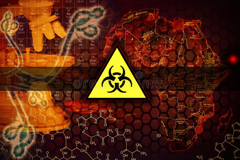 Virus d'Ebola illustration stock