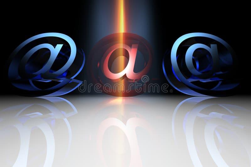 Virus d'email illustration stock
