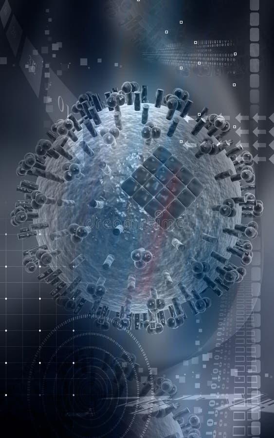 Virus da gripe ilustração do vetor