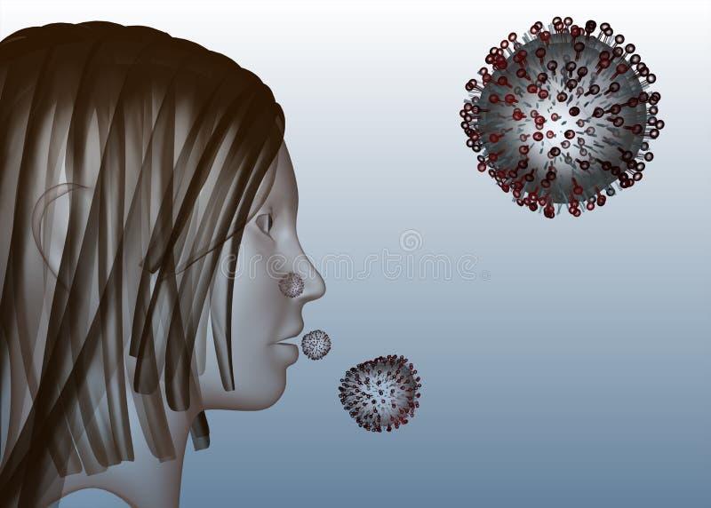 Virus da gripe ilustração royalty free