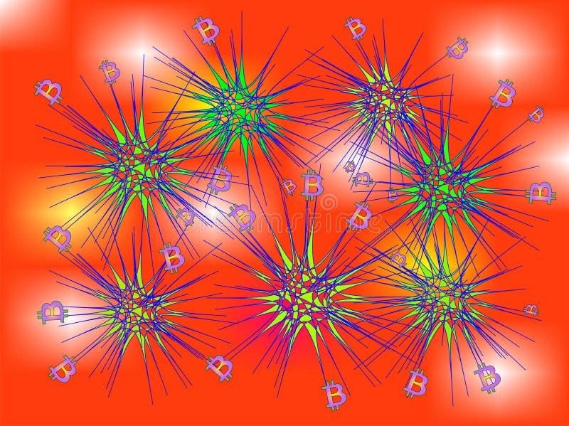 Virus de Bitcoin en el flojo libre illustration