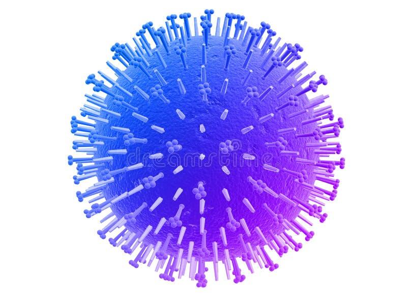 Virus de grippe illustration libre de droits