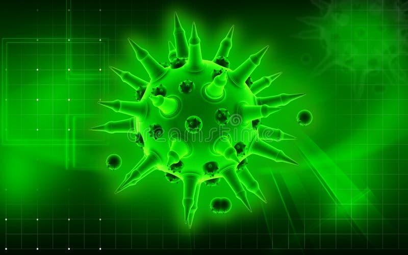 Virus de la gripe ilustración del vector