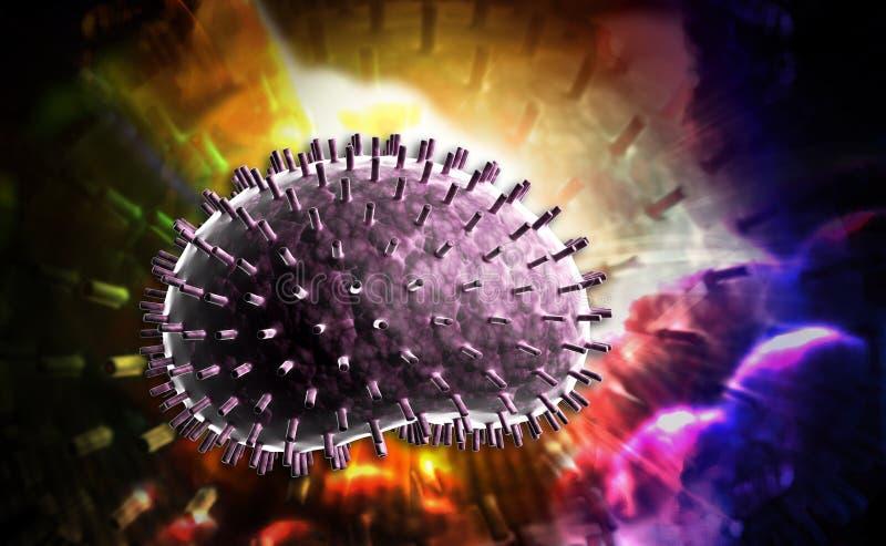 Virus de la grippe illustration de vecteur