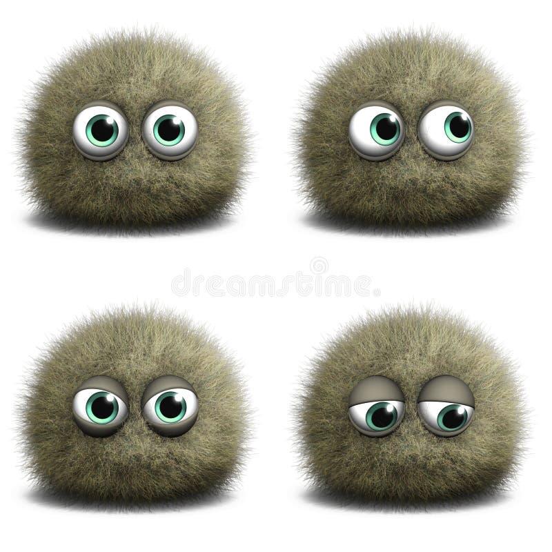 Virus de la historieta ilustración del vector