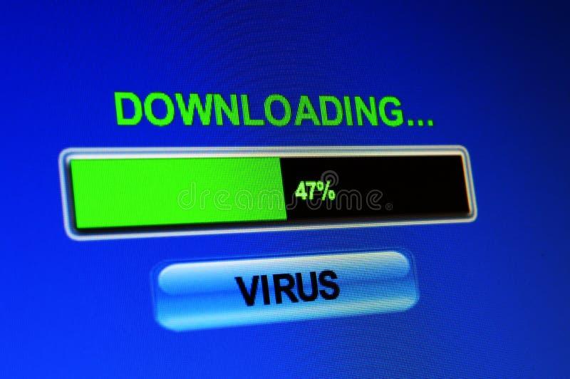 Virus de téléchargement images libres de droits