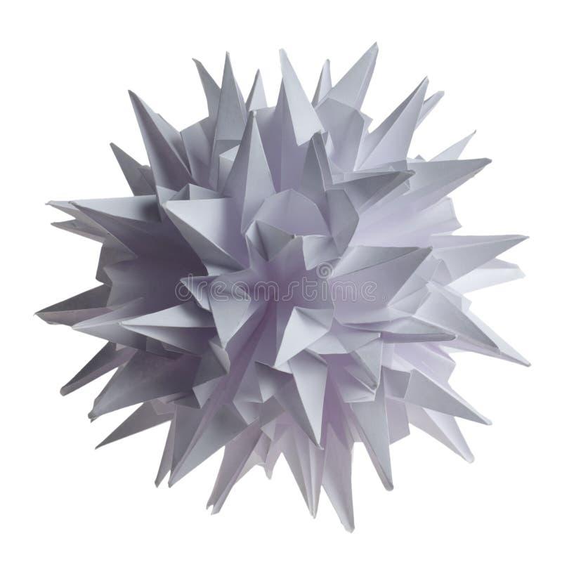 Virus del kusudama de Origami fotografía de archivo