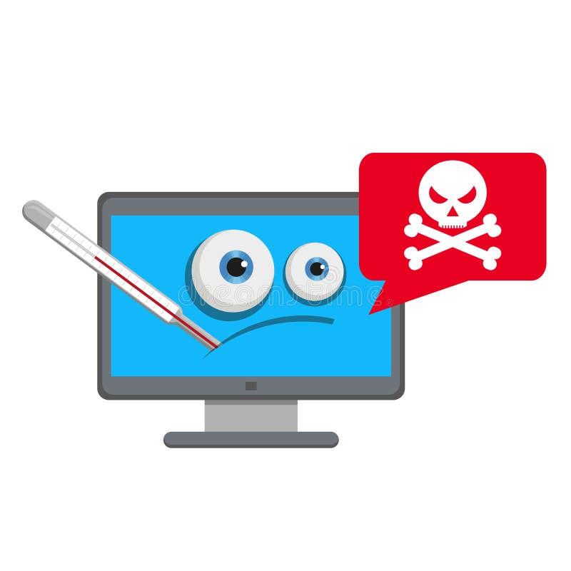 Virus del omputer del ¡de Ð Ordenador de destrucción del virus libre illustration