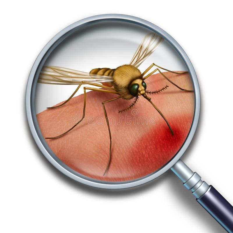Virus della zanzara illustrazione di stock
