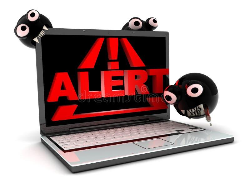 Virus di attacco illustrazione di stock