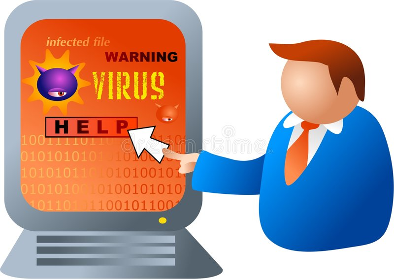 Virus di calcolatore illustrazione di stock