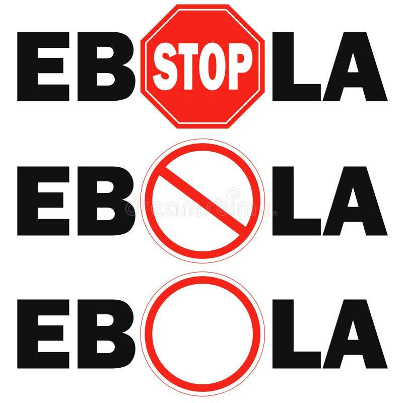 virus di Ebola del fanale di arresto 3 immagini stock