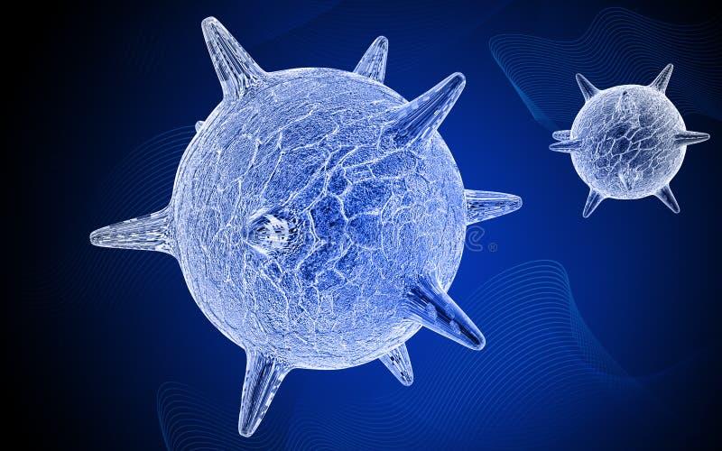 Virus di erpete illustrazione vettoriale