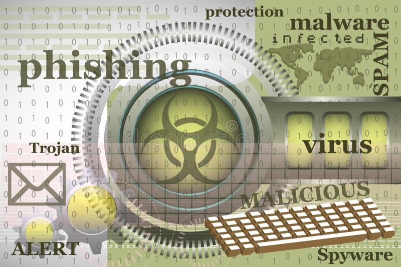 Virus di Internet illustrazione di stock