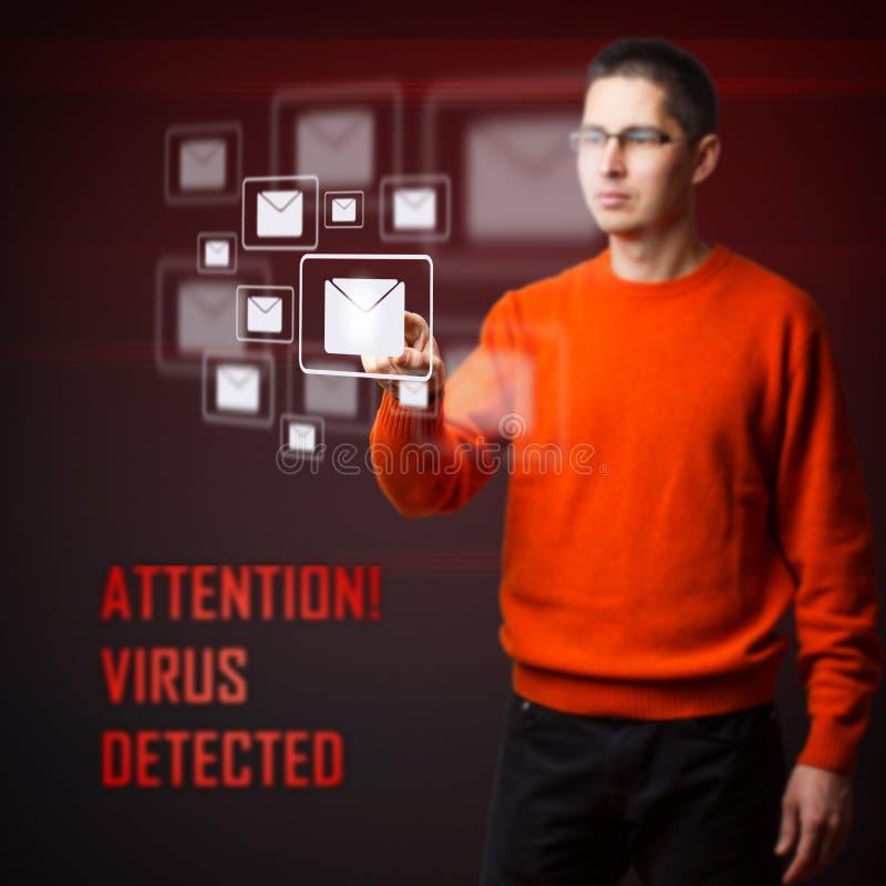 Virus entdeckt stock abbildung