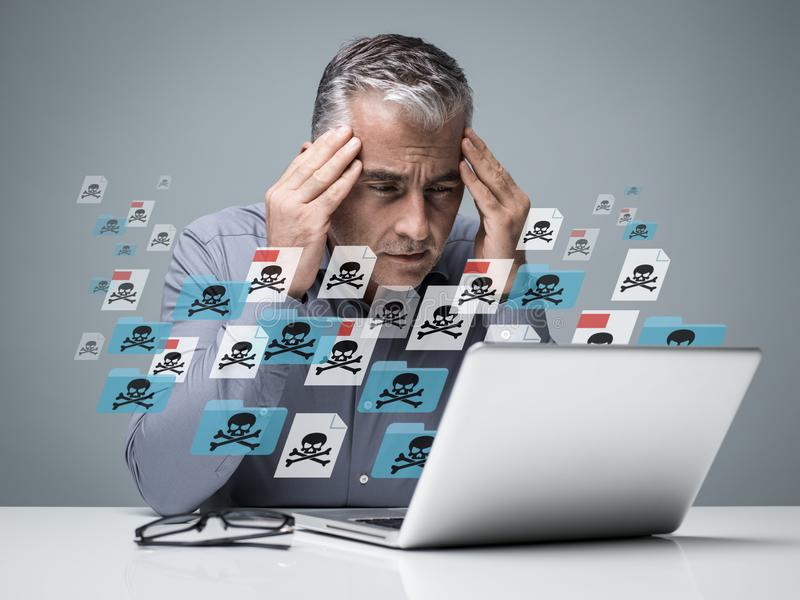 Virus et malwares photographie stock