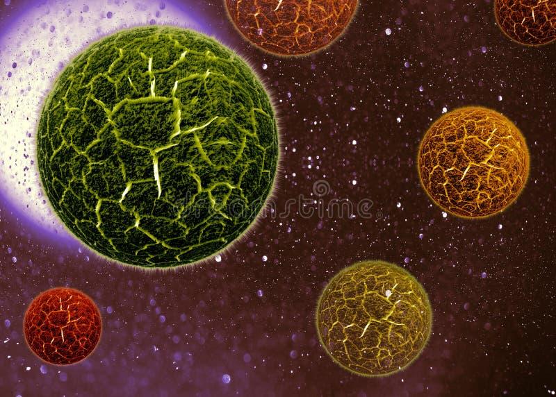 virus för cell 3d stock illustrationer