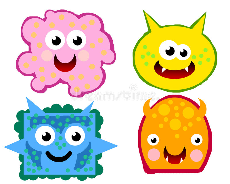 Download VIRUS GERMS 02 stock vector. Image of cartoon, design - 7774870