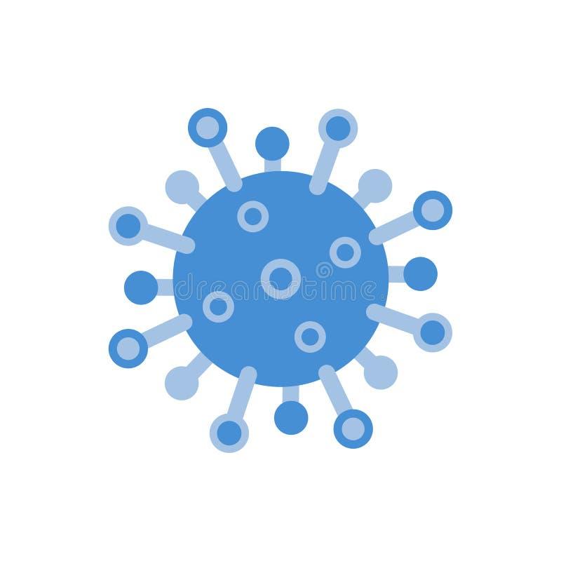 Free Virus Icon. Flat Microbe On White Background. Corona Virus Symbol. Germ Disease, Pathogenic Organism. Danger Allergy Stock Image - 175166141
