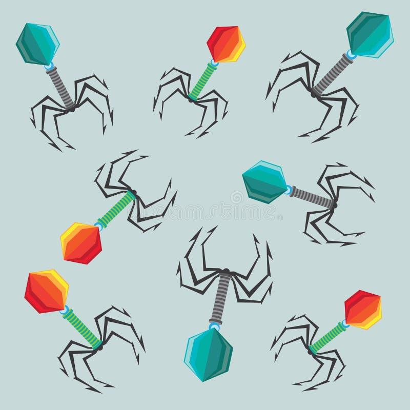 Virus illustration colors vector illustration