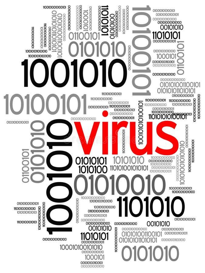 Virus im binären Code lizenzfreie abbildung