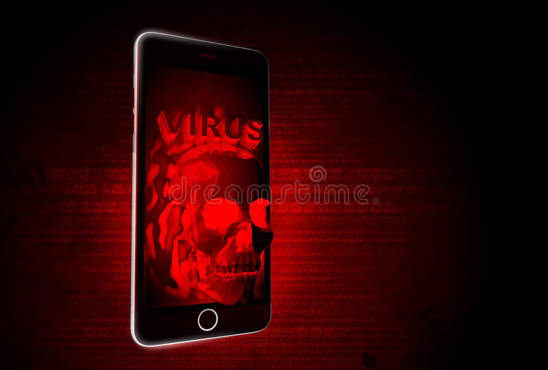 virus mobile photographie stock libre de droits