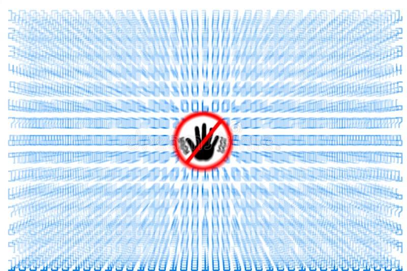 Virus och Spyware vektor illustrationer