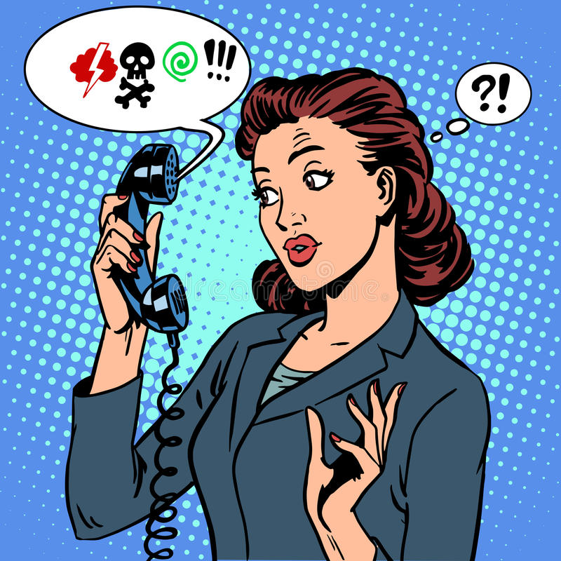 Virus peligrosos de la comunicación del teléfono de la charla stock de ilustración