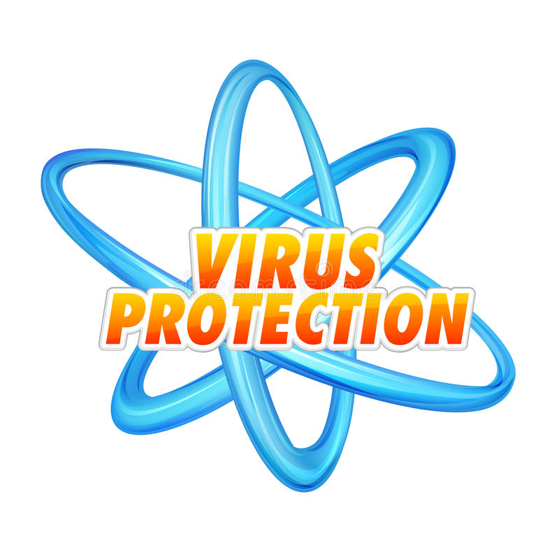 Virus Protection. Vector illustration of virus protection sign with rings vector illustration