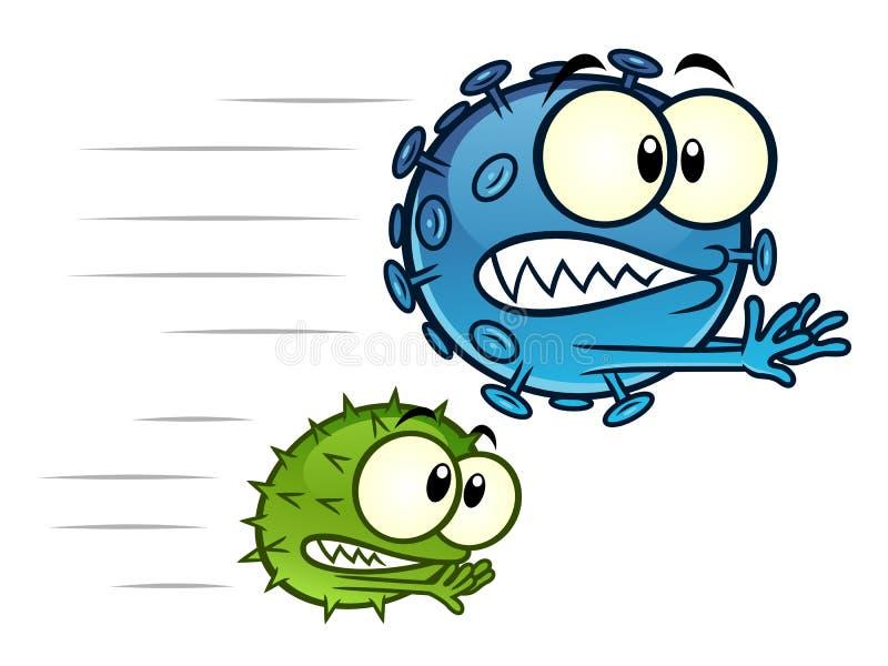 Virus som bort går royaltyfri illustrationer