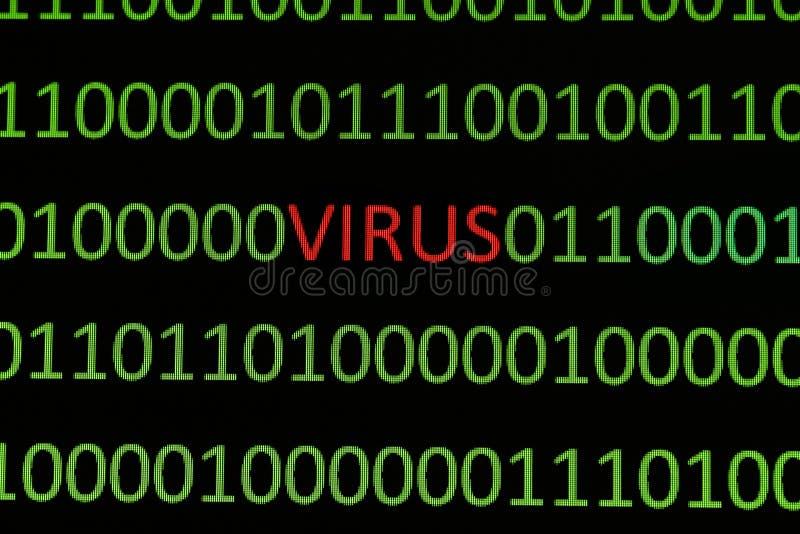 Virus sur des données binaires illustration stock