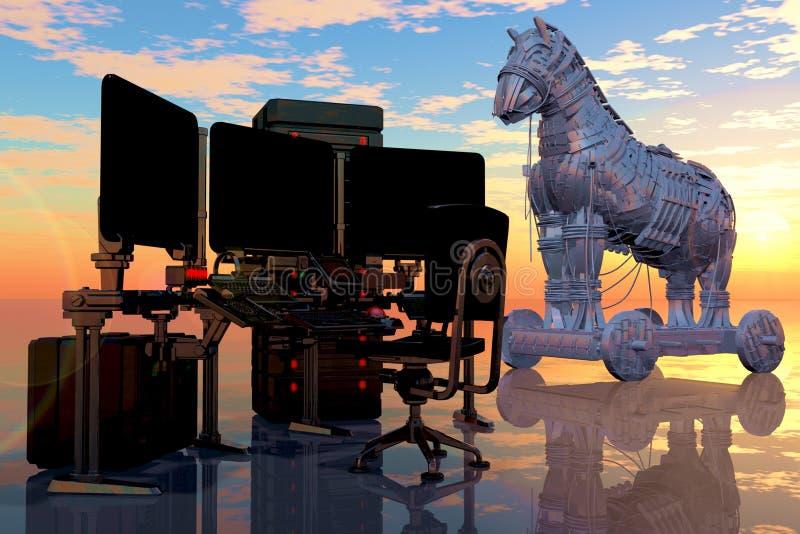 Virus Trojan stock de ilustración