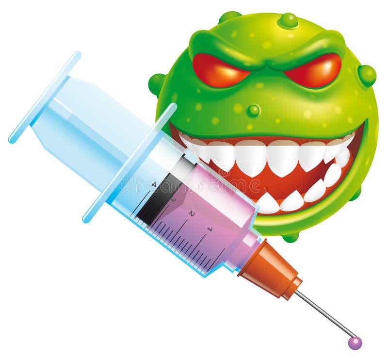 Download Virus vaccine stock vector. Image of software, computer - 25367045