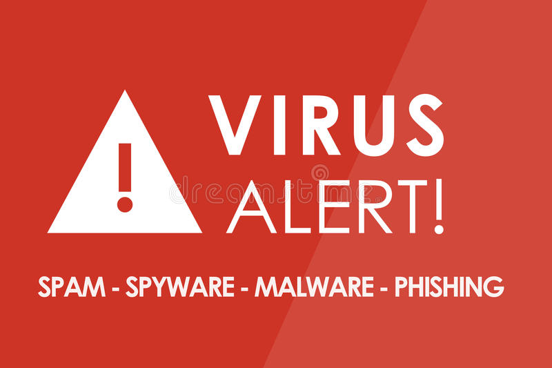 Virusalarm vector illustratie
