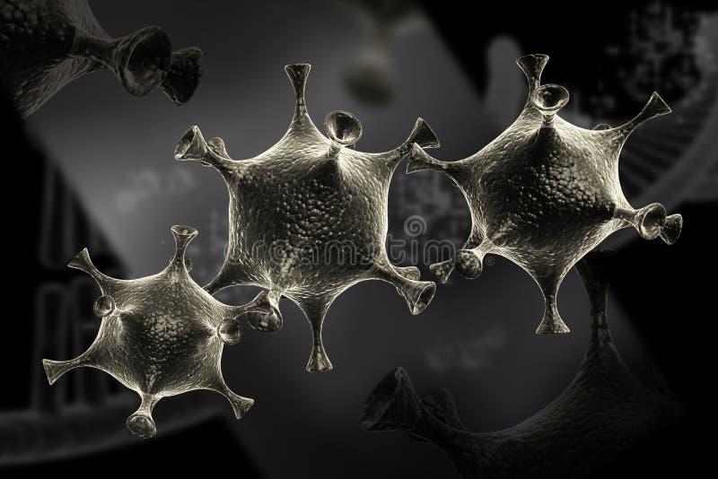 Viruscel stock illustratie