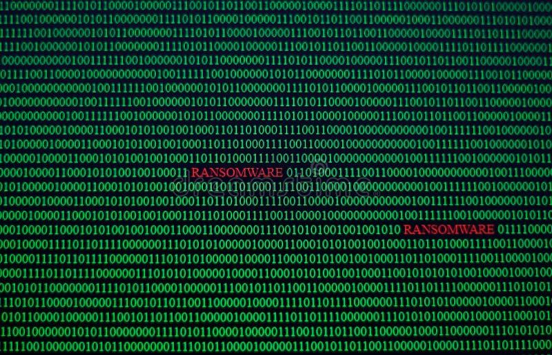 Viruscode in computer onbeveiligd systeem Netwerk royalty-vrije illustratie