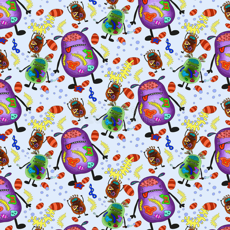 Viruses and bacteria. Colorful pattern stock photography