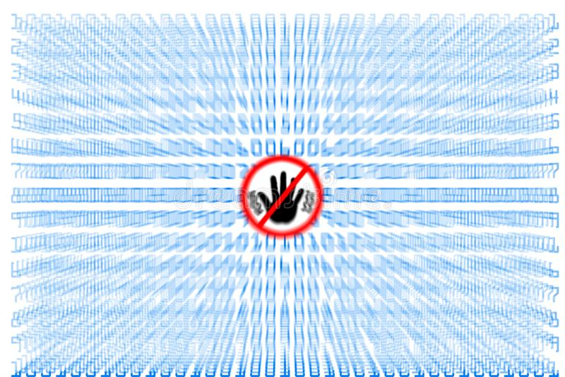 Viruses and Spyware vector illustration